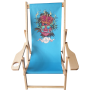 "Deckchair ""Olivier Bonhomme"" Blue - Cannabis King®"