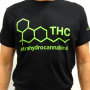 """Black Unisex """"THC"""" T-Shirt By CannaPassion - Why Not"""