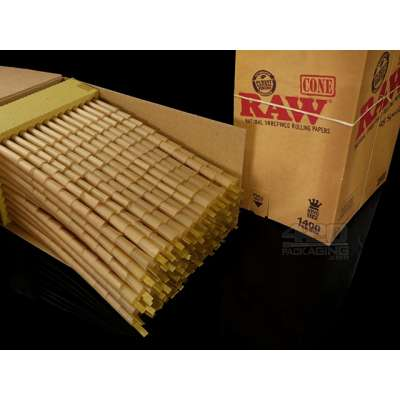 King Size Pre-rolled cones - Bulk Box 1400 pces - Raw