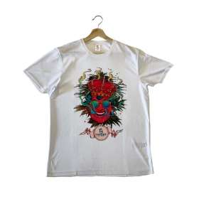 Cannabis King® White Sport T-shirt by Olivier Bonhomme